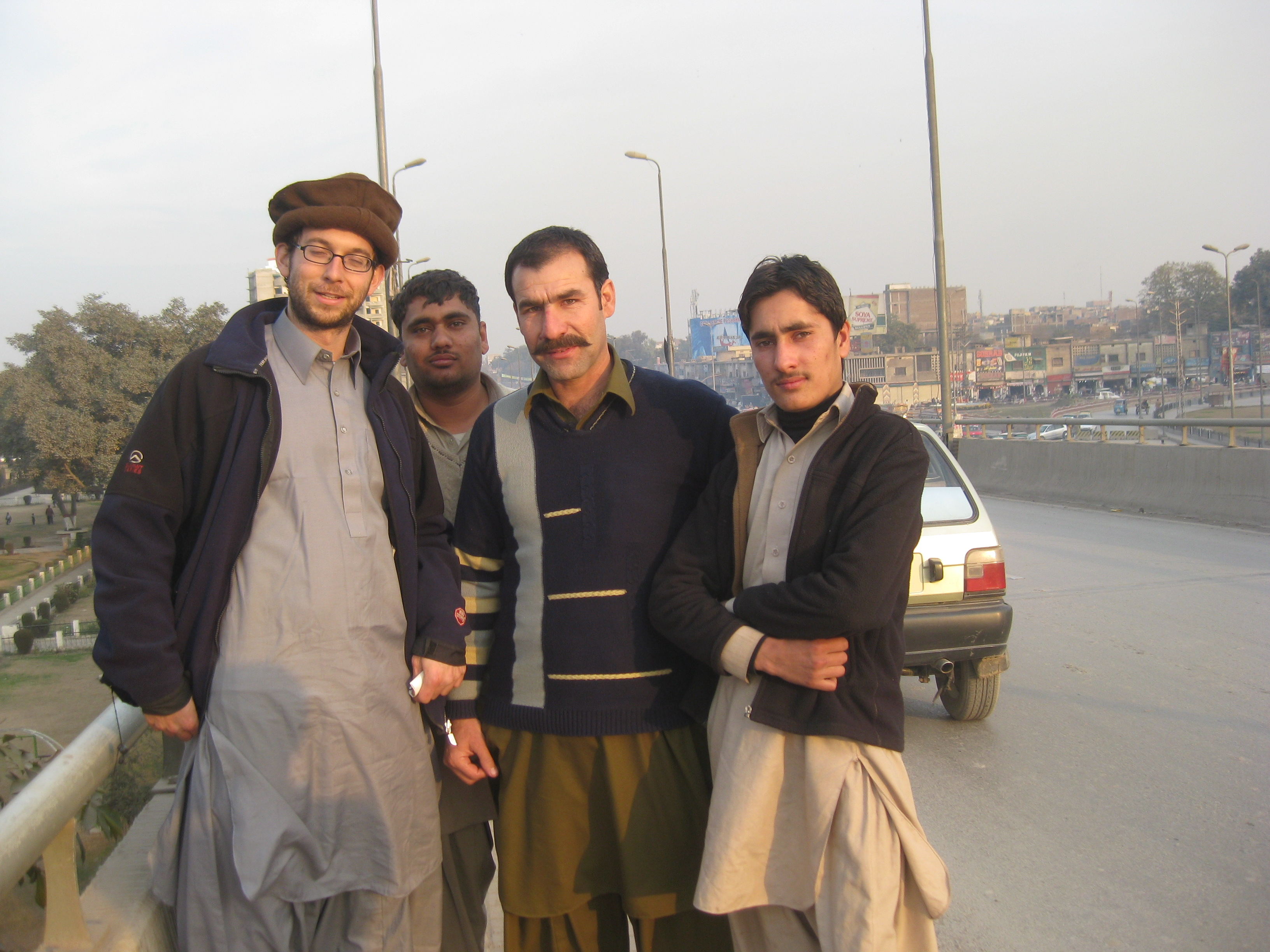 Some friendly people on the streets of Peshawar.